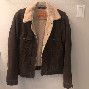 Levi's Brown Corduroy Sherpa Trucker Jacket